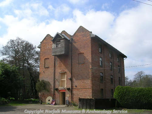 Letheringsett mill is a four storey building built in 1802 on the site of an earlier mill.