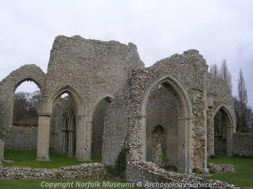 The ruins of St Mary's Abbey, North Creake