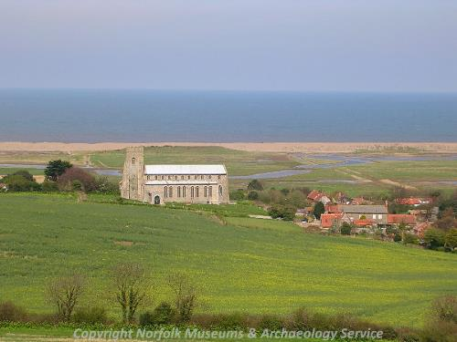 St Nicholas' Church, Salthouse, seen from Salthouse Heath.