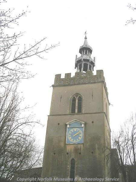 Showing the 14th century tower