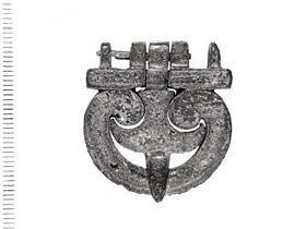 Roman military buckle with fleur-de-lys pin.
