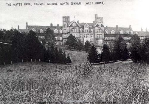 Undated postcard of Watts Naval Training School, formerly the Norfolk County School. The main building was demolished in the 1960s.