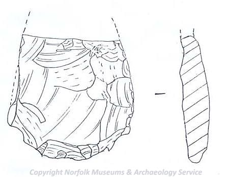 Illustration of Late Neolithic to Early Bronze Age discoidal knife.