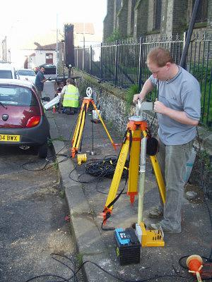 Conducting downhole GPR surveys