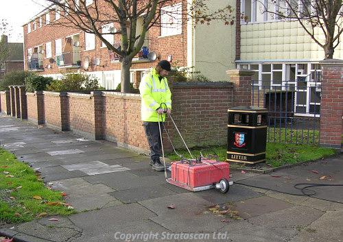 GPR survey of Friar's Lane, Great Yarmouth
