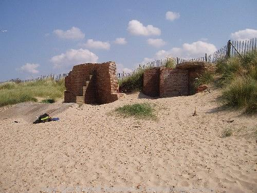 World War Two battery at Brancaster, the best preserved coastal battery of its date in Norfolk