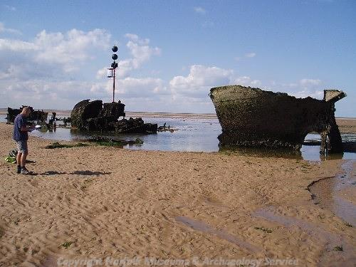 The wreck of the 'Vena' in Burnham Norton was used for target practice during World War Two