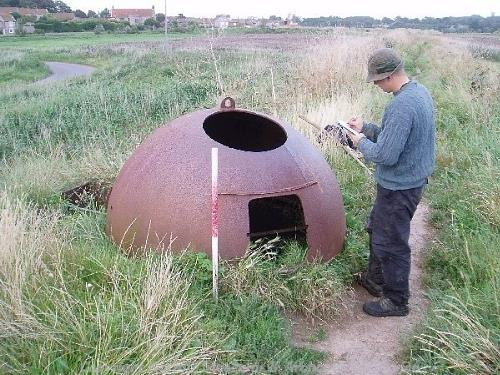 A rare example of a World War Two Allan Williams Turret in Cley next the Sea