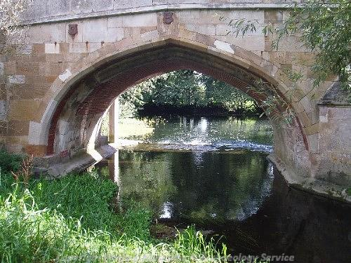 View of one the arches of Cringleford Bridge.