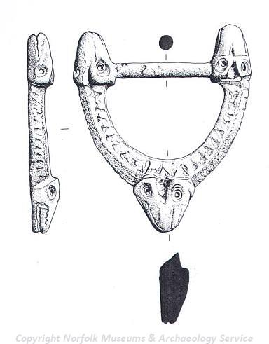 Illustration of 9th century buckle.