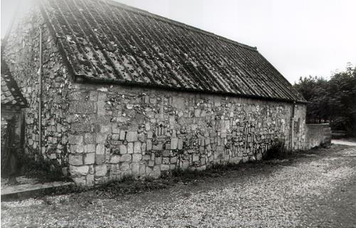 The 19th century piggery at Rookery Farm has reused Norman stonework incorporated into the walls