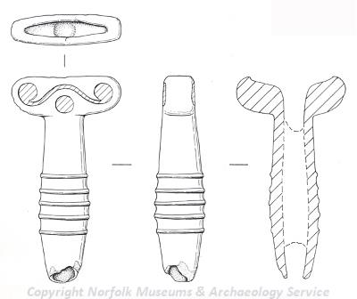 Illustration of Iron Age mirror handle.