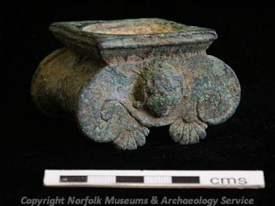 A remarkable example of a Roman candleabrum in the shape of an Ionic capital