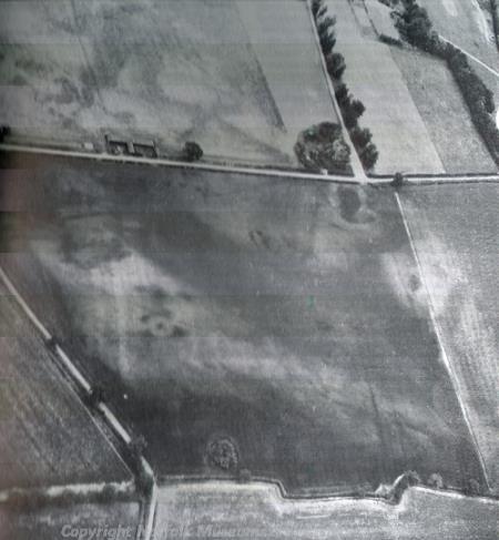 The multi-period settlement site near Transport Lane, Loddon can be seen from the air as soilmarks
