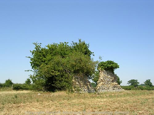 Two of the chancel walls are the only standing remains of St Andrew's Church.