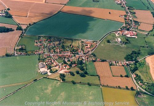 Binham aerial photograph.