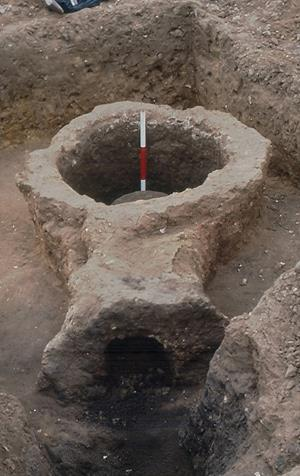 A Roman kiln excavated in 1994.