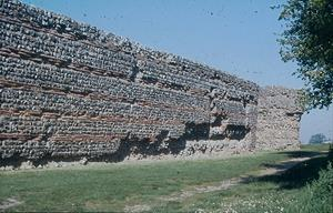 Walls of the Roman fort.